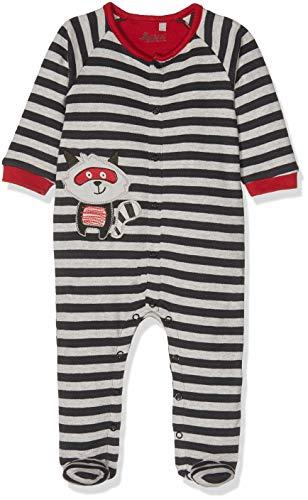 Sigikid Jungen Overall, Baby Strampler, Mehrfarbig (Grey Melange Abk 39 88), 56