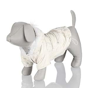 Manteau d'hiver Vichy, M: 45 cm, crème, pour chien