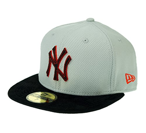 Casquette new era diamond suede new york Gris