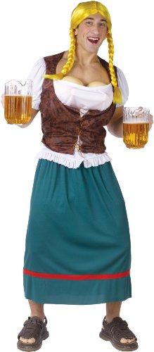 Chaks 130654 Kostüm Bayerin Männer Dirndl Fake-Brüste mit Spritz-Funktion Oktoberfest ()