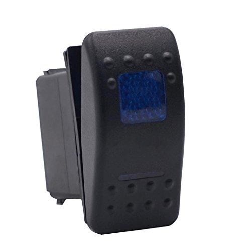 Kaiki Auto Blue LED Licht Toggle Switch,Schalter mit LED-Anzeige Lichtleiste ARB Carling Rocker Toggle Schalter Blau LED Licht Auto Boot 5Pin Ac-leistungsschalter-panel