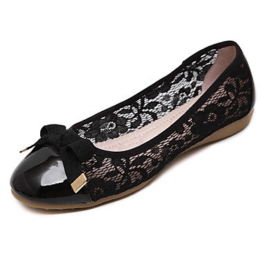 Confortevole ed elegante piatto scarpe donna Appartamenti Primavera / Estate / Autunno Round Toe / punta chiusa / Appartamenti Casual tacco piatto Bowknot passeggiate almond