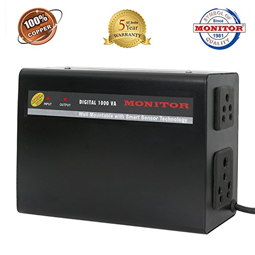 Monitor Voltage Stabilizer For Led Tv Upto 65 Inch / 3 Amps (100% Copper)