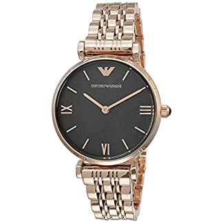 Emporio Armani Gianni T-bar Analog Black Dial Women's Watch – AR11145