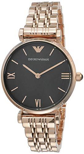 Emporio Armani Damen Analog Quarz Uhr mit Edelstahl Armband AR11145