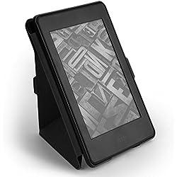 Tsing Funda Kindle Paperwhite 1/2/3 Nuevo Kindle 2016 Cierre Magnético Ligera Delgada (Negro)
