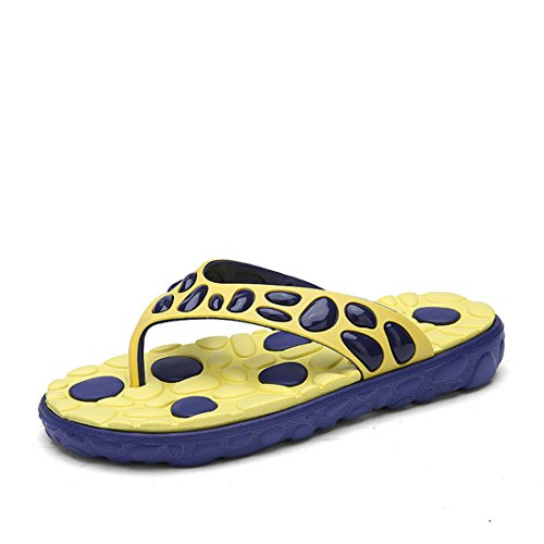 Men's European Style Beach Platform Slippers yellow