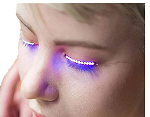 wuayi LED Music Sound Control False Eyelashes Eyelid Fashion Icon Saloon Pub Club Bar Party Halloween