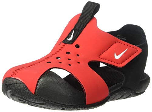 Nike Sunray Protect 2 (TD), Scarpe da Spiaggia e Piscina Bambino, Multicolore (University Red/White/Black 601), 26 EU