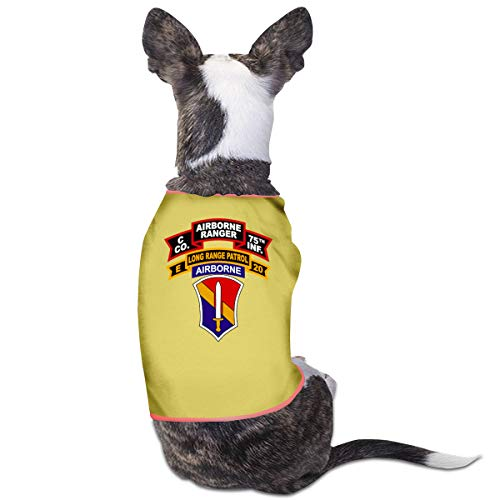 Ranger Power Yellow Kostüm - Jiaojiaozhe Army C Company Rangers Pet Service Pet Clothing Funny Dog Cat Costume Tshirt Yellow