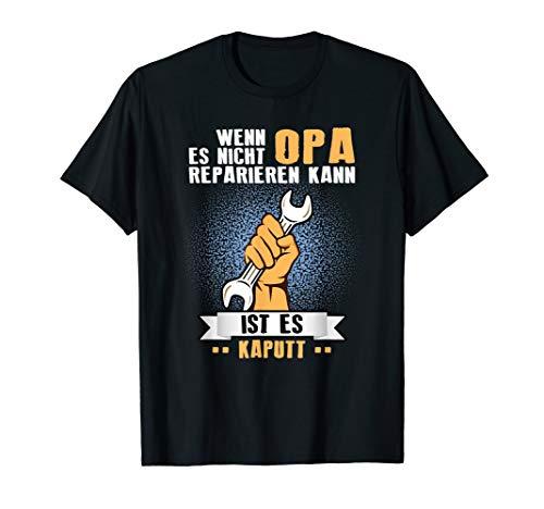 Herren Wenn Opa es Nicht Reparieren kann T-Shirt Geschenkidee Opa T-Shirt