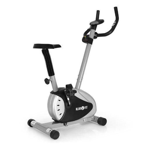 Klarfit MOBI BASIC Vélo d'appartement ergomètre pour fitness avec pulsomètre intégré (8 niveaux de réglages de sièges, max. 100kg) - acier