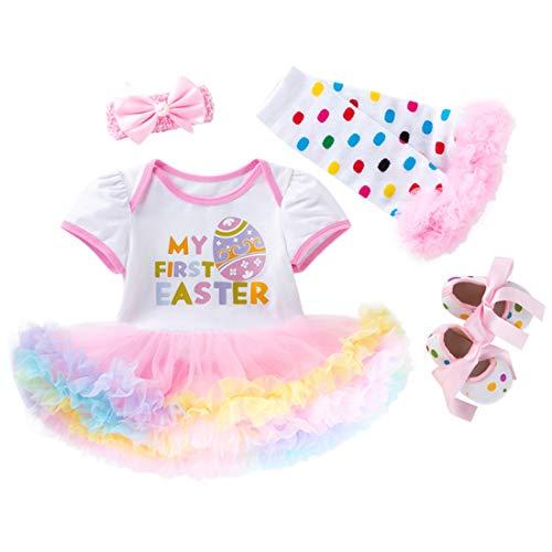 Fairy Baby Kleinkind Baby Mädchen 1. Ostern Outfit-Set Neugeborenes Säugling Kleid Kostüm Size M/66(3-6 Monate) (Ei)