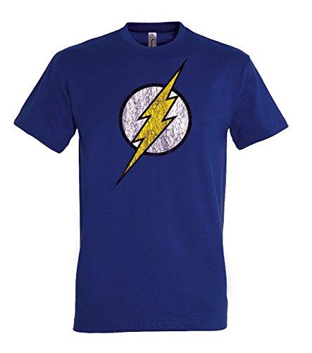 TRVPPY Herren T-Shirt Modell Vintage Flash in vielen versch. Farben, Gr. S-5XL Navyblau