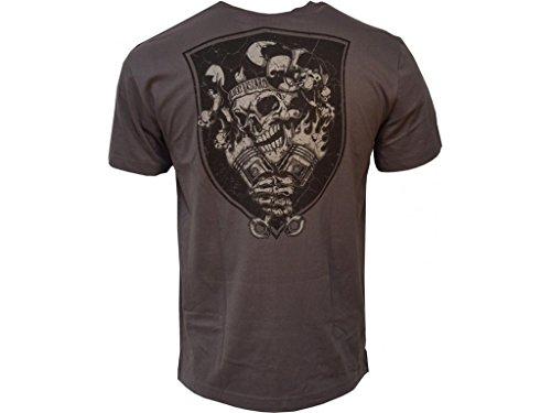 King Kerosin T-Shirt Joker Vintage Backprint steel grey, XXL