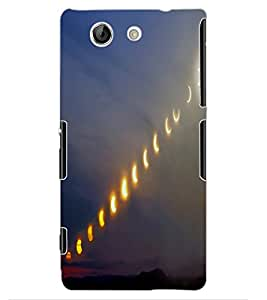 ColourCraft Moon Effect Design Back Case Cover for SONY XPERIA Z4 MINI / COMPACT