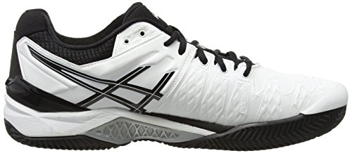 Asics Gel-resolution 6 Clay Herren Tennisschuhe White (White/Black/Silver 0190)