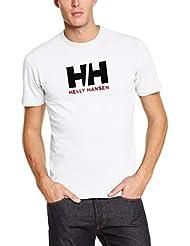 Helly Hansen Hh Logo Camiseta, Hombre, Blanco, M