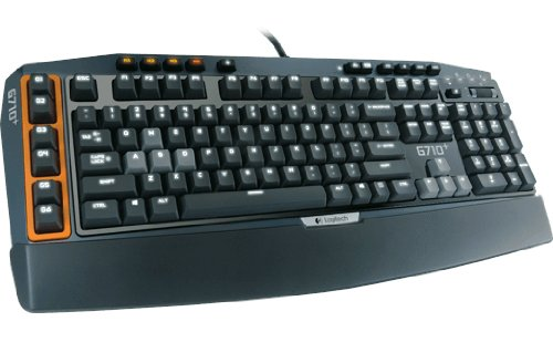 Logitech G710+ Mechanical Gaming Tastatur (QWERTZ, deutsches layout) schwarz/orange
