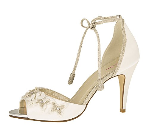 timeless design 62906 ef49f Rainbow Club - Zapatos de Vestir para Mujer Marfil Ivory/Creme, Color  Marfil, Talla 40.5