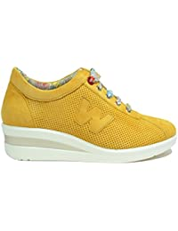 Melluso Sneakers Zeppa ocra Scarpe Donna Walk R20110 f01d6965fb5