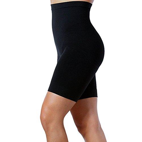 Aha Moment by N-fini Damen Lycra High Waisted Control & Oberschenkel Slimmers Shapewear Shorts - Schwarz - Large/2X (High-waisted Shaper Panty)