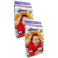Libero Open Diapers (Medium) -2 Packs, 40 Counts Per Pack