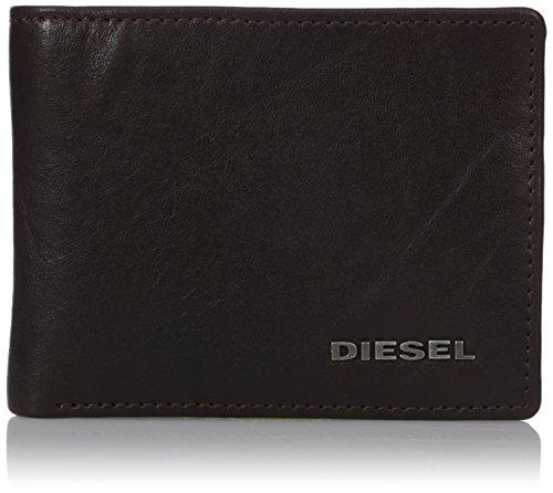 Portafoglio In Pelle Diesel Neela Xs Maschile, Marrone Con Interni Color Kaki Unica Taglia
