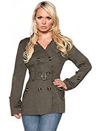 Atixo – trenchcoat | corta | en varios. Colores Disponible Verde verde oliva