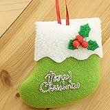 WXZQNN 1 Stücke Socken Hängen Ornamente Tuch Kleine Stiefel Anhänger Home Party Weihnachtsbaum Dekoration