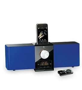 Logitech Pure-Fi Express Plus Lautsprechersystem für iPod/iPhone blau