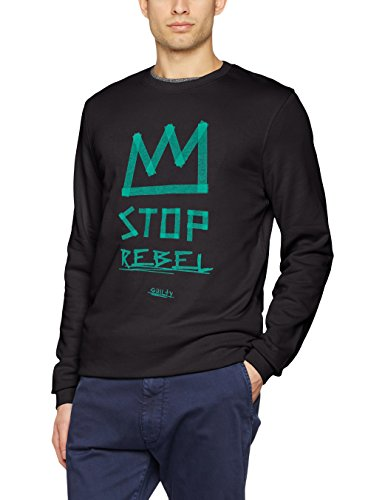 JACK & JONES Herren Sweatshirt Jortape Sweat Crew Neck Grau (Tap Shoe Fit:REG)