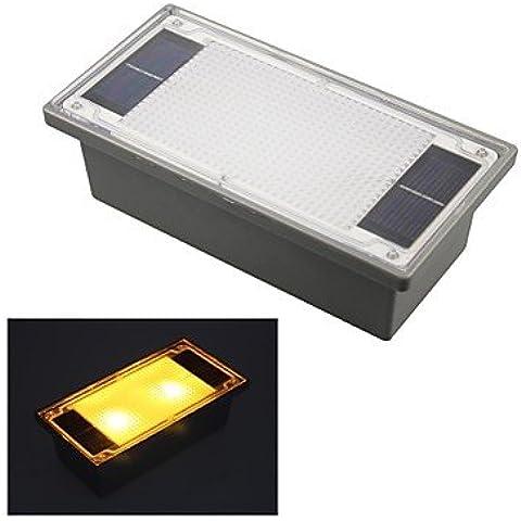ZQQ LED amarillo ladrillo con incrustaciones al aire libre jardín luces de vía