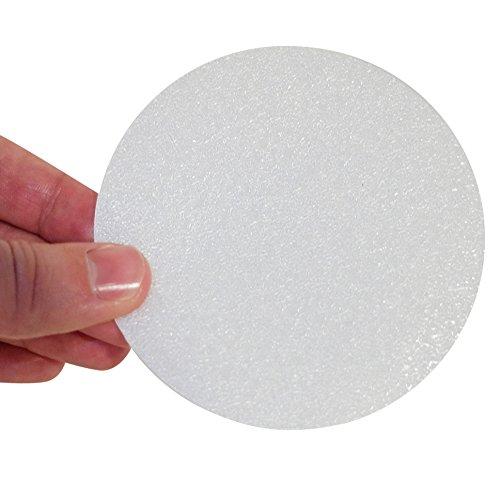 HAFTPLUS Anti Rutsch Sticker (10 Stück) – Mehr Sicherheit für Ihre Dusche und Badewanne. Transparente Antirutsch-Aufkleber Ø 10 cm.