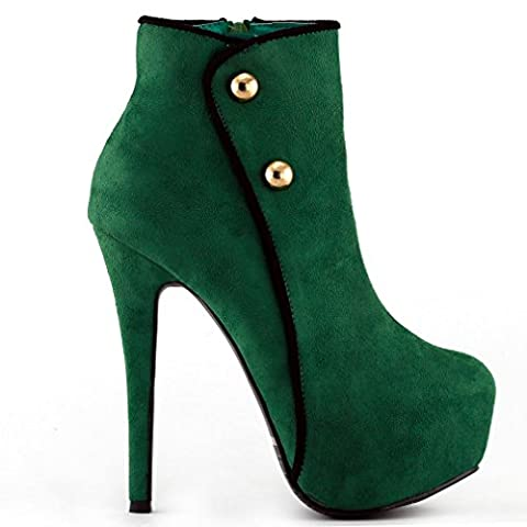 Show Story grüne schwarze Cocktail Nacht versteckt Plateau Heels für Frauen, LF80829GR37, 37EU, grün