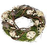 Gartenzaubereien Rebenkranz, Osterdeko mit Eiern