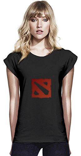 Dota 2 Logo Womens Continental Rolled Sleeve T-Shirt Large