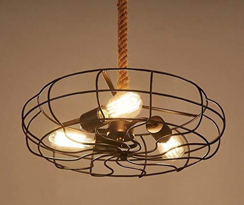 GZ Hauptmöbel-Weinlese-industrieller Art-Restaurant-Stab-Krawatte-Eisen-und Stahlverkostungs-Bar-Netz hakt Fan-Leuchter,Durchmesser 37 cm Eine Art Krawatte