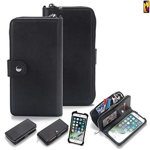 K-S-Trade 2in1 Handyhülle für Huawei P20 Lite Dual-SIM Schutzhülle & Portemonnee Schutzhülle Tasche Handytasche Case Etui Geldbörse Wallet Bookstyle Hülle schwarz (1x)