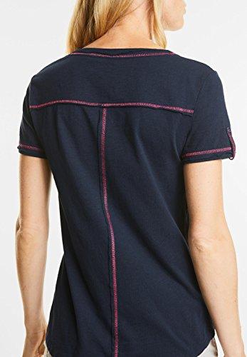 CECIL Damen Shirt mit Front-Stitching deep blue (blau)