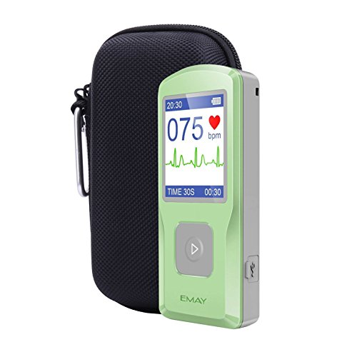 Aenllosi Hard Case für emay Handheld ECG/EKG Monitor mit Pille Veranstalter, Schwarz -