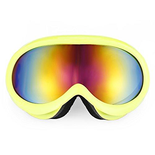 Shuzhen,Unisex-Anti-Fog-Objektiv Snowboarding Skibrille Brillen Brillen Brillen(Color:GELB)