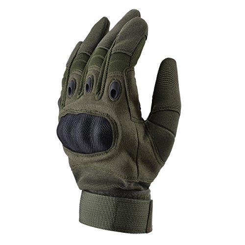 Coofit Sport Handschuhe Winter Motorrad Handschuhe Herren Vollfinger Gloves Biking Skifahre Handschuhe (Grün, L) - 9