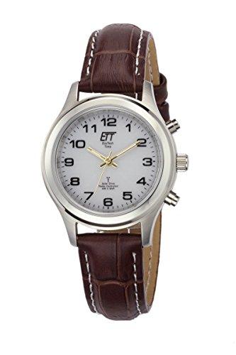ETT Eco Tech Time Funk Solar Damen Uhr Analog mit Leder Armband ELS-11334-61L