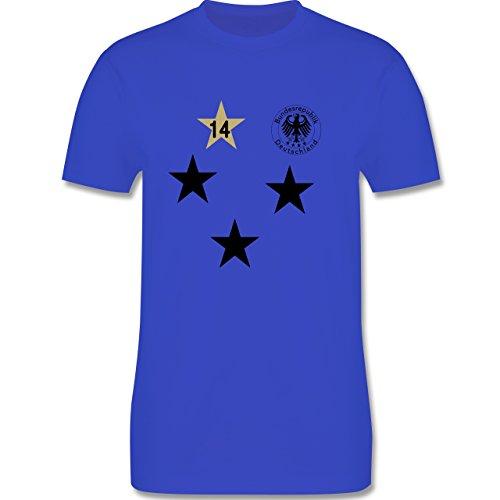 Fußball - Weltmeister 2014 Deutschland 4. Stern - Herren Premium T-Shirt Royalblau