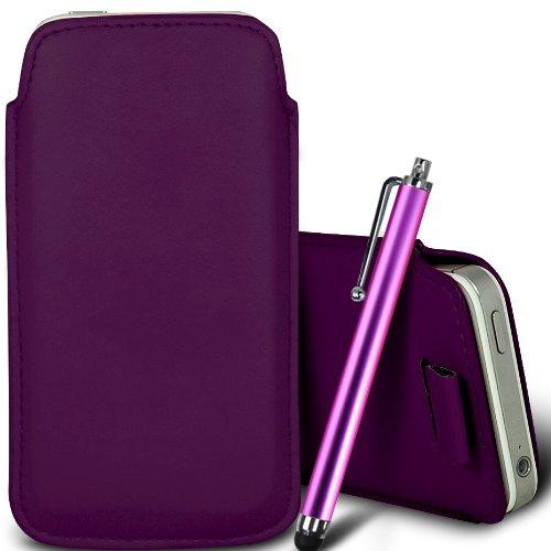 Vert/Green - Samsung Galaxy J1 4G , J1 SM-J100 Housse deuxième peau et étui de protection en cuir PU de qualité supérieure à cordon et écouteurs intra-auriculaires de 3,5 mm assortis par Gadget Giant® Pourpre/Purple & Stylus Pen