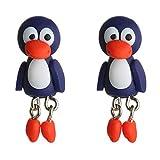 Caimeytie Mädchen Ohrringe Tiere Kinder Schmuck Handarbeit 3D Ausgefallen Pinguin