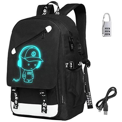 Giow Premium Teens Schultaschen, Unisex 20L Mode Oxford Laptoptasche Schulrucksack für Jungen Mädchen