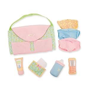 Manhattan Toy Baby Stella Darling Diaper Bag Changing Set and Accessories for Nurturing Dolls