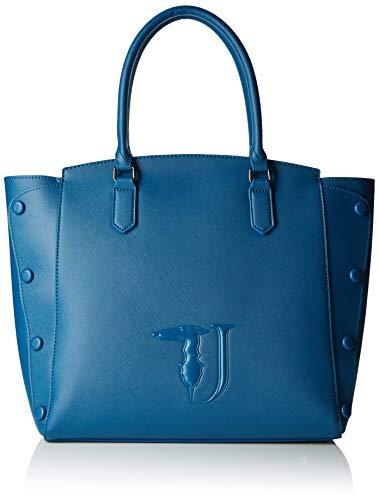 9dadab5f38 Trussardi Jeans Melissa Shopping Bag Covered Studs Borsa a spalla Donna, Blu  (Dark Blue